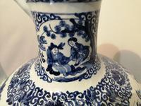 19th Century Blue & White Dutch Delft Flagon / Ewer (9 of 14)