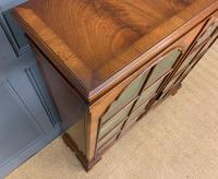 Good Burr Walnut Glazed 2 Door Bookcase (4 of 15)