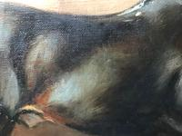 Oil Painting Portrait Study Black Horse in Stable Signed Alice Mary Burton RBA '1893-1968' (9 of 26)