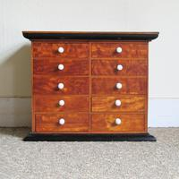Satinwood & Walnut Victorian Collectors Chest (2 of 6)