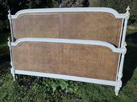 Kingsize Painted & Caned French Bed (4 of 9)
