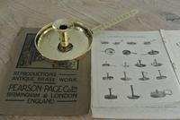 Antique Brass Georgian Chamberstick Pearson Page Candlestick c.1910 (2 of 11)