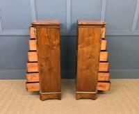 Pair of Victorian Burr Walnut Pillar Chests (6 of 18)