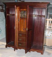 Large Art Nouveaux Mahogany Compactum Wardrobe (6 of 6)