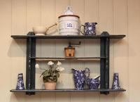 Rustic French Painted Wall Shelves (2 of 5)