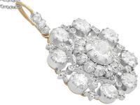 6.10ct Diamond & 9ct Yellow Gold Brooch / Pendant - Antique Victorian (6 of 15)