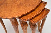 Antique Burr Walnut Pie Crust Nest of Tables (7 of 8)