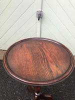 Antique Oak Tripod Wine Table (2 of 6)