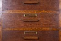 Good Looking 1930s Vintage Oak 22 Drawer Cabinet Chest (9 of 11)