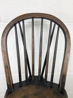 Set of Four 19th Century Ash and Elm Hoop Back Chairs (7 of 13)