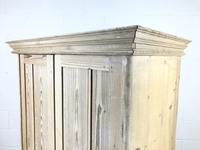 Antique Pine Two Door Wardrobe with Drawer (9 of 10)
