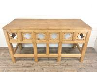 Victorian Pine Church Altar Table in Gothic Design (11 of 14)