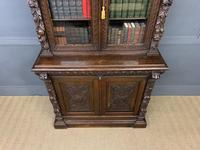 Imposing Carved Oak Bookcase (7 of 23)