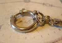 Antique Pocket Watch Chain 1910 Art Nouveau Silver Chrome Graduated Albert Nos (9 of 11)