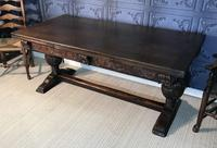 Large Oak Extending Dining Table (2 of 18)
