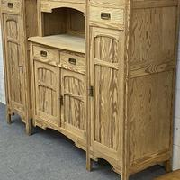 Very large antique dresser with glazed display cupboards (6 of 9)