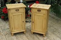 Quality Pair of Old Stripped Pine Bedside Cabinets (2 of 9)