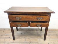 Early 19th Century Oak Lowboy Side Table (10 of 13)