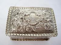 Decorative Rectangular William Comyns Victorian Silver Box (4 of 8)