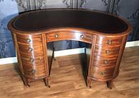 Edwardian Inlaid Mahogany Kidney Shaped Desk (4 of 21)