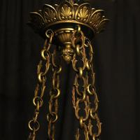 French Bronze Empire 8 Light Antique Chandelier (4 of 7)