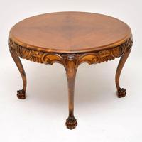 Antique  Swedish Satin Birch Coffee Table (4 of 7)