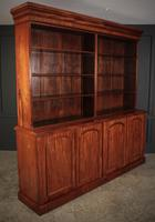 Large Mahogany Open Library Bookcase (2 of 11)