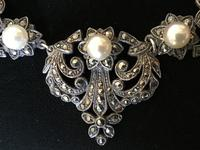 Silver and Marcasite Vintage Necklace. (4 of 4)