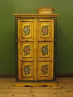 Vintage Indian Folk Art Bohemian Painted Cabinet Larder Linen Press Cupboard (7 of 13)