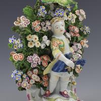 Derby Porcelain Pair Bocage Candlestick Figures Children Gardeners c.1770 (11 of 12)