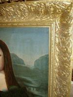 Mona Lisa Old Master 18th Century Oil Portrait Painting on Canvas after Leonardo Da Vinci (7 of 9)