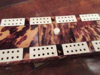 Antique Tortoiseshell & Bone Cribbage Board (4 of 6)