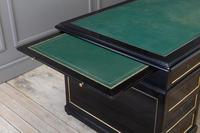 1930s French Ebonised Pedestal Desk (2 of 7)