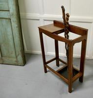 A Golden Oak Hall Table Stick Stand, (7 of 7)