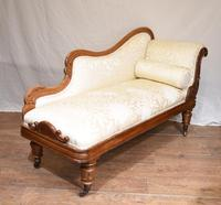 Regency Chaise Longue Sofa Walnut Lounge Day Bed (12 of 25)
