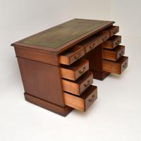 Antique Mahogany Leather  Top  Pedestal Desk (9 of 11)