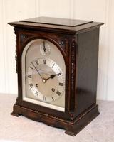 Oak Bracket Clock Supplied By Harrods (6 of 11)