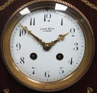 Incredible Solid Mahogany Cased Mantel Clock with Bone Inlay by James Weir (2 of 10)