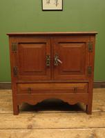 Antique Oak Continental Cupboard with Drawer for TV or Drinks, Lockable (4 of 14)
