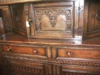 Ornately Carved Oak Court Cupboard - 021-224 (2 of 2)