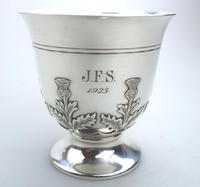 Fine & Rare Scottish Solid Silver Small Tankard by Hamilton & Inches c.1922 (4 of 9)
