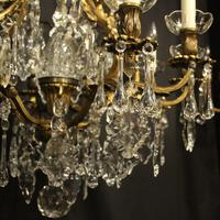 French Gilded Bronze 11 Light Antique Chandelier (6 of 10)