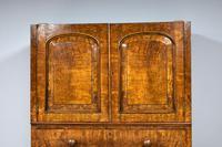 19th Century Victorian Inverted Breakfront Burr Walnut Wardrobe (7 of 10)