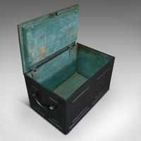 Antique Strongbox, English, Cast Iron, Safe, Deposit Case, Victorian c.1850 (8 of 12)