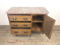 Antique Oak Arts & Crafts Marble Top Cupboard (9 of 12)