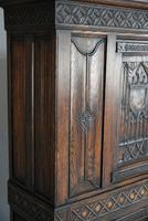 Gothic Revival Oak Cupboard (8 of 12)