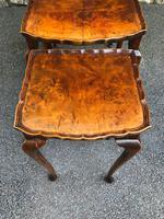 Antique Burr Walnut Nest of 3 Tables (7 of 9)