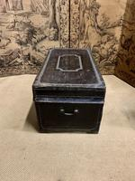 English Regency Leather Camphor Wood Trunk (4 of 5)