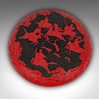 Antique Cinnabar Box, Chinese, Lacquer, Decorative Tray, Qing Dynasty c.1900 (3 of 12)