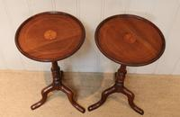 Pair of Inlaid Mahogany Wine Tables (2 of 10)